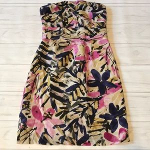Banana Republic Strapless 00P floral dress
